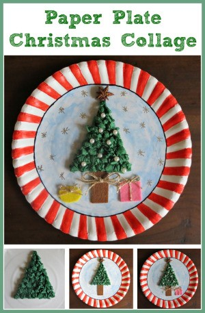 Making a Paper Plate Christmas Collage