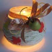 Autumn Leaves Jar Candle Holder