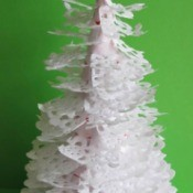 Paper Doily Christmas Tree