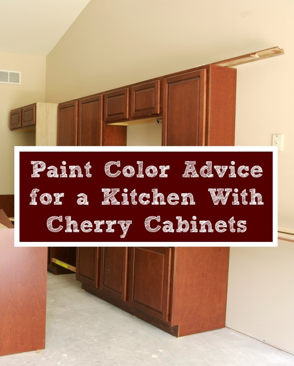 Paint color advice for a kitchen with cherry cabinets for What color paint goes with white kitchen cabinets