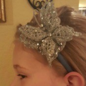 Dollar Store Decorated Headband - Finished headband