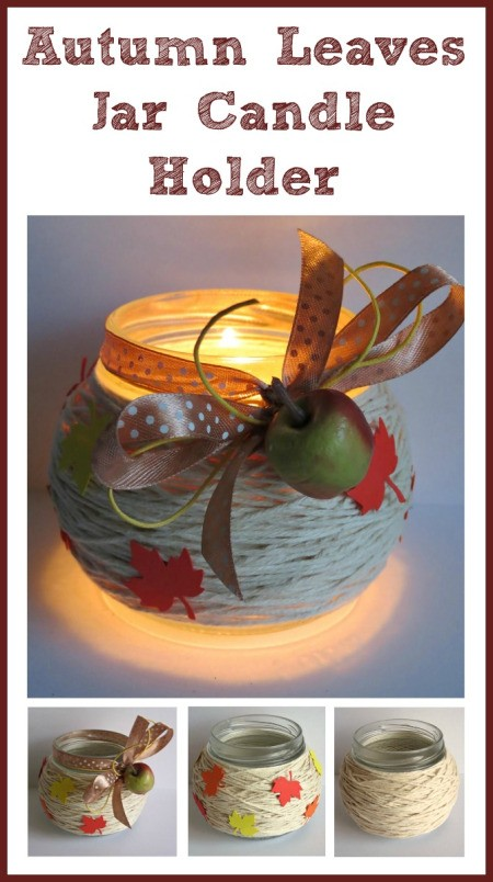Making an Autumn Leaves Jar Candle Holder
