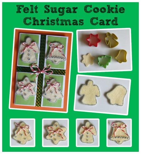 Felt Sugar Cookie Christmas Card