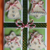 Felt Sugar Cookie Christmas Card