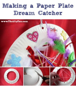 Making a Paper Plate Dream Catcher