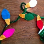 Felt Christmas Light Garland