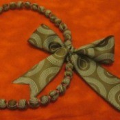 Ribbon-Covered Necklace