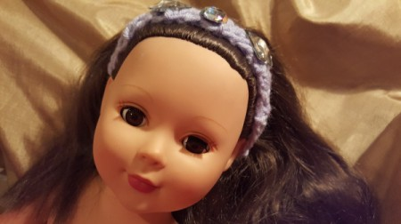 Crocheted Headband for American Girl Doll