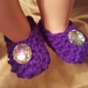 Crocheted Slippers for American Girl Doll