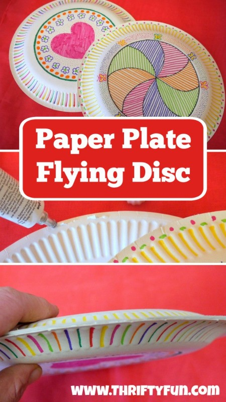 Making a Paper Plate Flying Disc