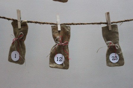 Burlap Bag Advent Calendar
