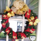 Decorated Holiday Wreath