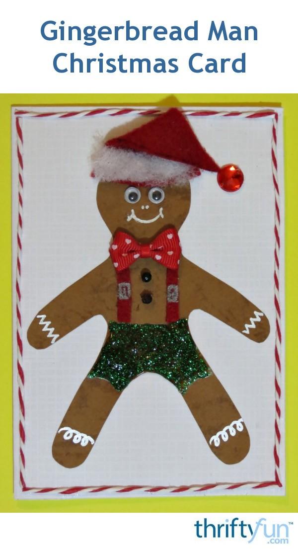 making gingerbread man cards