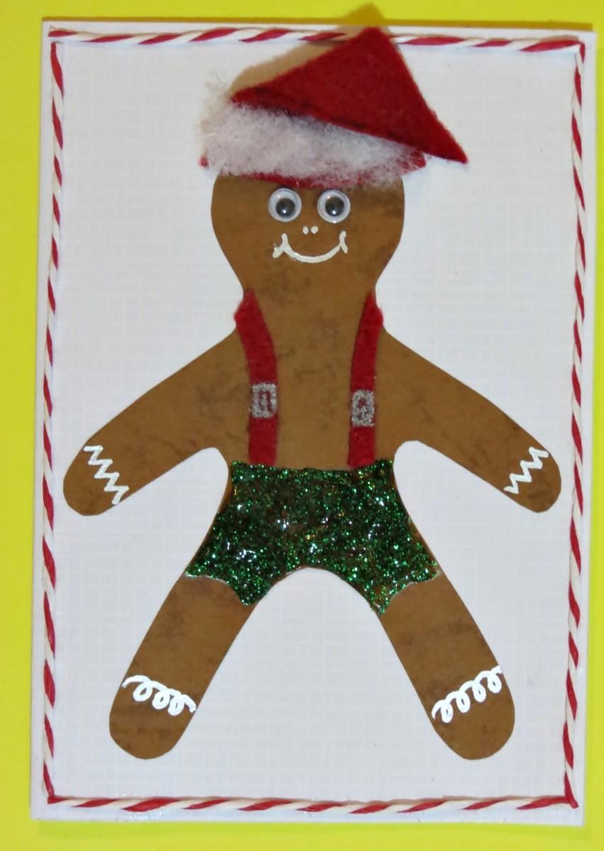 Gingerbread Man Christmas Card Thriftyfun