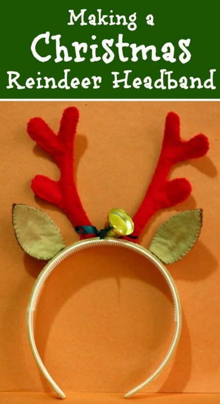 Making a Christmas Reindeer Headband