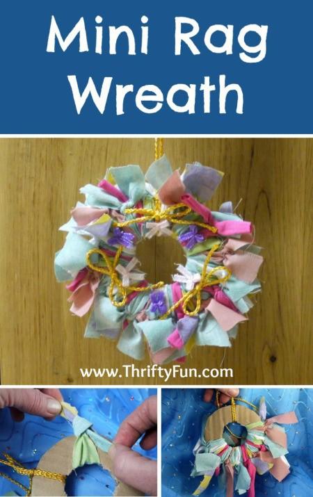 Making a Mini Rag Wreath