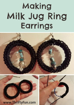 Milk Jug Ring Earrings