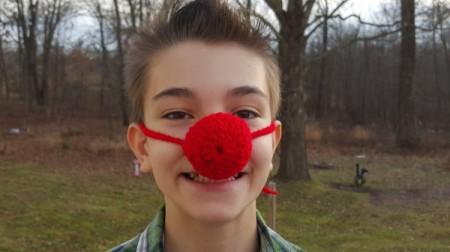 Crocheted Clown Nose