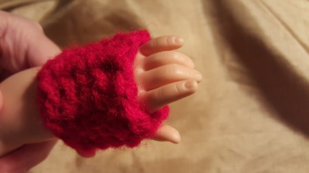 American Girl Crochet Fingerless Gloves