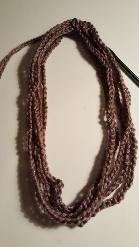 Easy Peasy Crocheted Chain Necklace