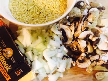 Mushroom and Cheese Orzo Risotto