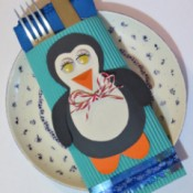 Penguin Knife and Fork Envelope