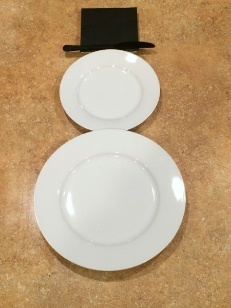 Snowman Place Setting