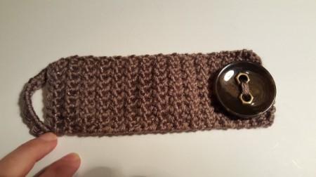 Crocheted Button Cuff Bracelet