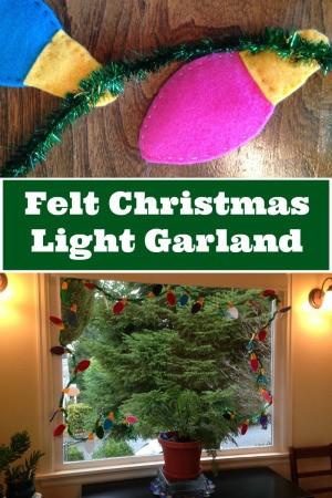 Making a Felt Christmas Light Garland