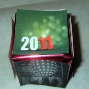 A cube craft to celebrate the New Year.