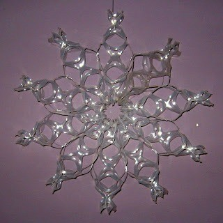 Making a 6 pack ring snowflake thriftyfun for Large plastic rings for crafts