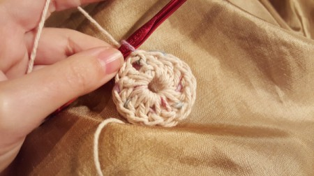 work double crochet in ring