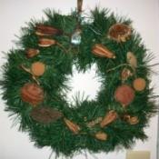 Natural Wreath of Memories - closeup of wreath