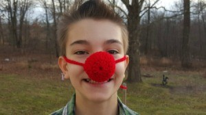 Making a Crocheted Clown Nose
