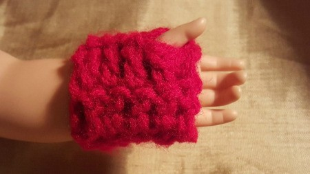 Crochet Fingerless Gloves for American Girls