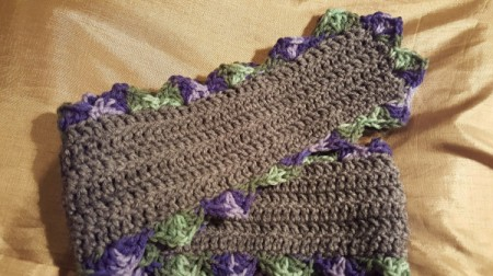 Scalloped Children's Crochet Scarf - finished scarf