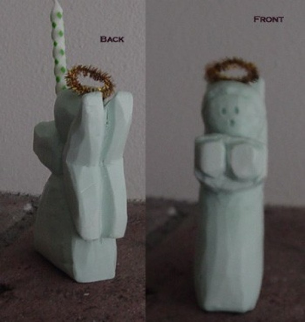 two views of finished angel