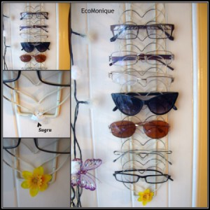 Upcycled Letter Rack for Eyeglasses