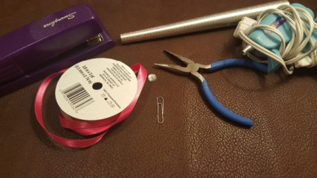 Paper Clip Ribbon Ring