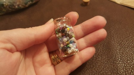 Message in a Bottle Pendant - fill with seed beads