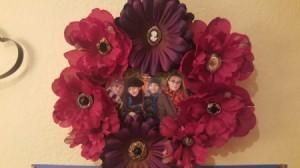 finished photo wreath