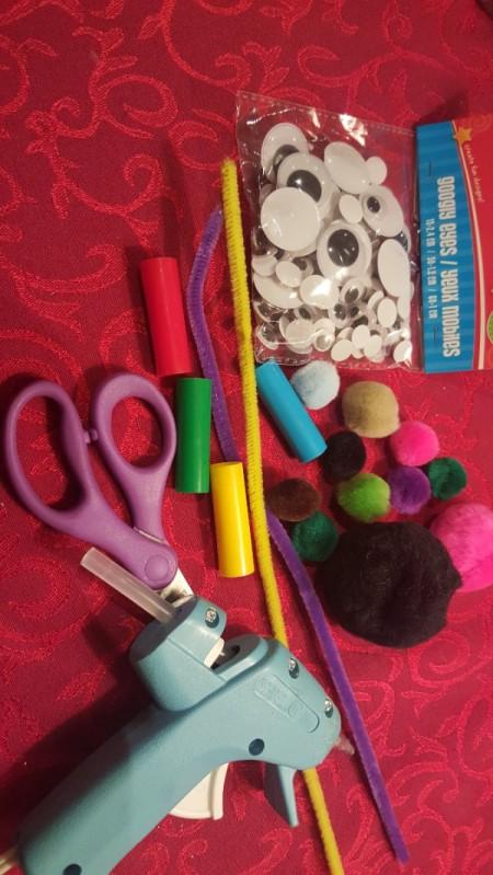 Marker Cap Finger Puppets - supplies