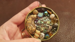 Recycled Jar Lid Statement Pendant
