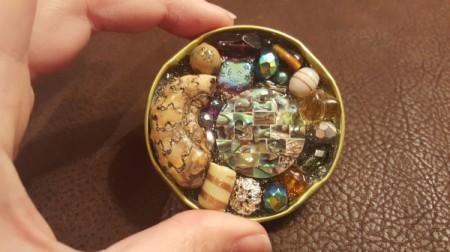 Recycled Jar Lid Statement Pendant
