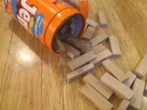 Using Jenga Pieces as Building Blocks