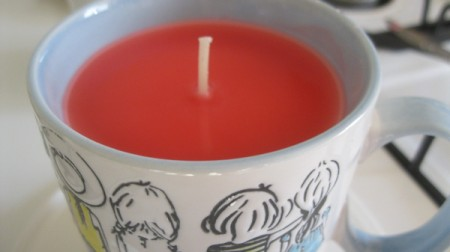 Teacup Candle - finished candle