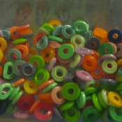 Melted Perler Beads - bag of melted and cooled beads