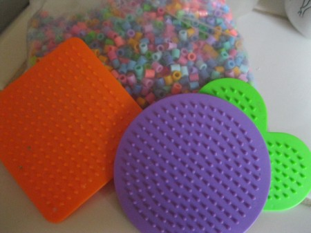 Melted Perler Beads - beads and plastic forms
