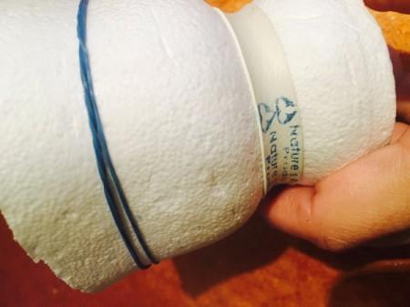 Upcycled Styrofoam Cup Vase