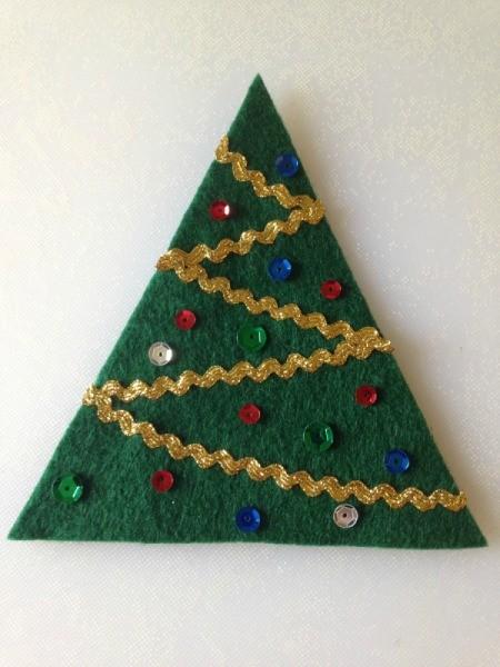 Felt Christmas Tree Treat Holders
